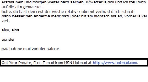 Growth hack hotmail