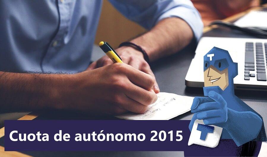 Cuota de autónomo 2015
