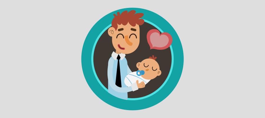 Baja paternidad autónomo: 4 semanas y 884,4 euros